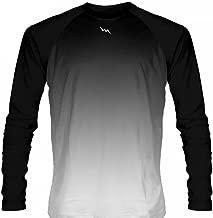 LightningWear Black White Fade Ombre Long Sleeve Shirts Basketball Long Sleeve Shirt