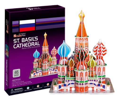 3D three-dimensional puzzle of St. Basil's Cathedral (japan import)