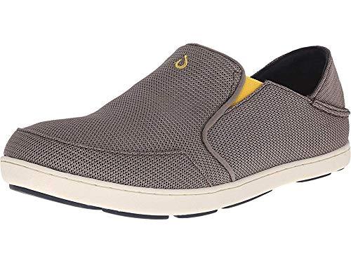 OLUKAI Men's Nohea Mesh Slip-On Shoes, Rock/Canoe, 13 M US