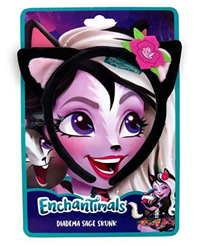 Enchantimals Diadema de peluche Sage Skunk