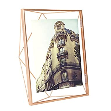 Umbra Prisma 8 x 10 Picture Frame – Floating Wall or Desk Photo Display for Pictures, Art, Illustrations, Graphic Text & More, Metal, Copper