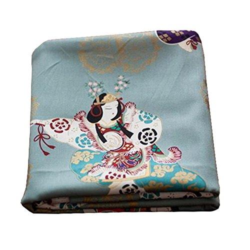 Black Temptation Telas Hechas a Mano de Estilo japonés -DIY Regalos Bolso/Kimono/Fundas de almohada-A12