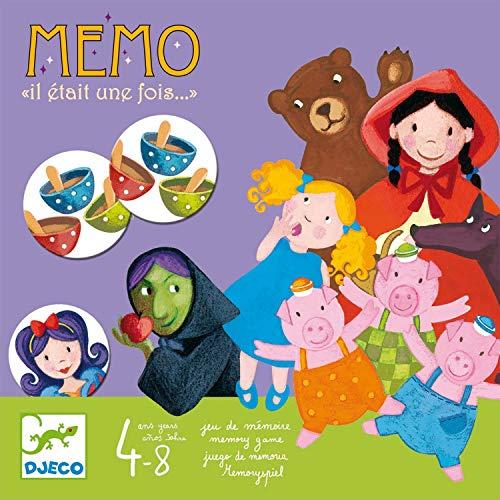 Djeco- Érase una Vez, Juego memo, Multicolor (38466A)