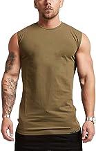 LUOEM Débardeurs pour Hommes Cool Entraînement Sec sans Manches Compression Baselayer T-Shirts Gym Maillot de Corps en Cou...