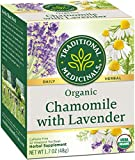 Traditional Medicinals Organic Chamomile with Lavender Herbal Tea 32ct (Pack of 3), Calms the Nervous System, 96 Tea Bags