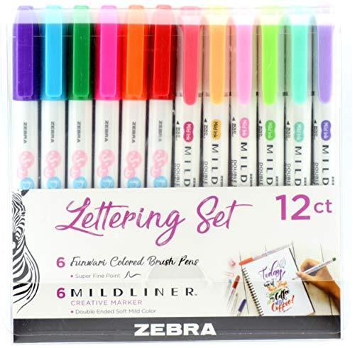 Zebra Funwari Brush Pens and Highlighters