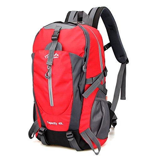 Imperméable à l'eau multifonctionnel sports de plein air sacs à dos sacs de sport outdoor alpinisme sac sport voyage épaule , red