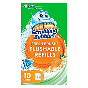Scrubbing Bubbles Fresh Brush Flushables Refill Toilet and Toilet Bowl Cleaner Eliminates Odors and Limescale Citrus Action Scent 10ct