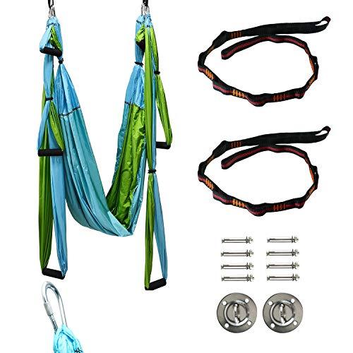 Yaegoo Aerial Yoga Swing Kit Body Hammock Yoga Swing Rigging for Antigravity Yoga Sling Inversion Hanging Equipment