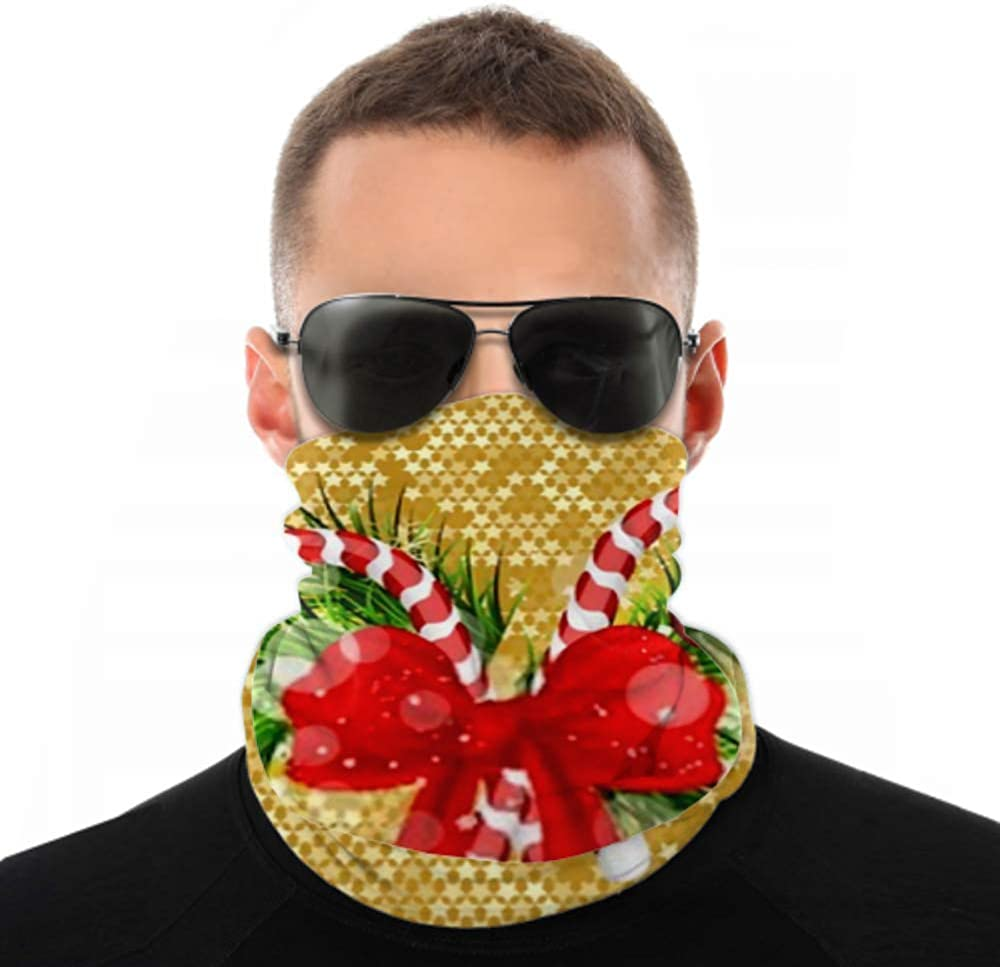 Headbands For Men Women Neck Gaiter, Face Mask, Headband, Scarf Christmas Background Fir Branches Candy Cane Turban Multi Scarf Double Sided Print Head Wrap For Sport Outdoor