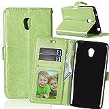 FUBAODA für Lenovo Vibe P1 Hülle,[Kostenlos Syncwire Ladekabel] Flip Leder Money Brieftasche,Klassiker,Ständer,Handyhülle Phone Tasche Hülle für Lenovo Vibe P1 (P1c72 P1c58) (grün)