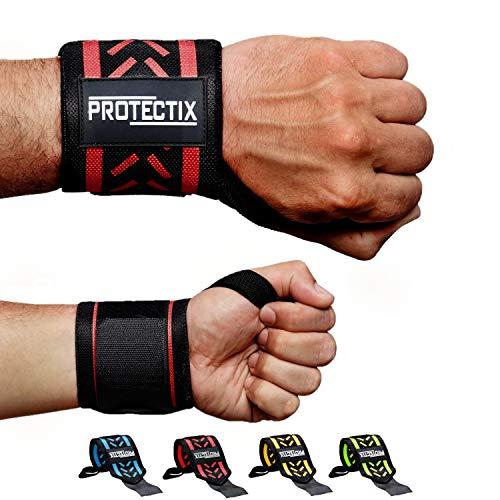 Protectix Handgelenk Bandagen - Wrist Wraps [2er Set] 45cm Handgelenkbandage für Kraftsport, Crossfit, Fitness & Bodybuilding – für Frauen und Männer geeignet