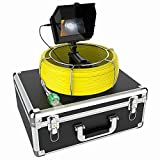 "Sewer Camera, 30M/100ft with 17mm Camera Pipe Drain Industrial Endoscope, 5"" HD Monitor Pipe Inspection Camera and 8PCS Adjustable Leds IP68 Waterproof Snake Camera for Plumbers, Inspectors, Engineers"