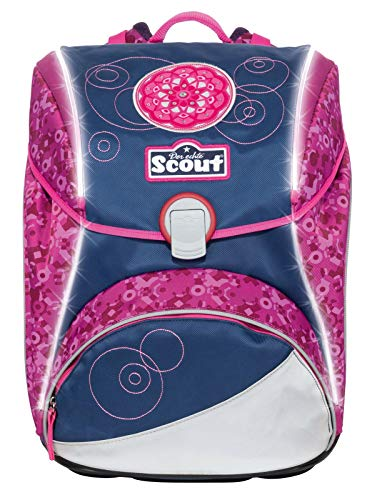 Scout Alpha Schulranzen Set 4tlg. Safety Light Limitierte Exklusiv Kollektion Pink Mandala