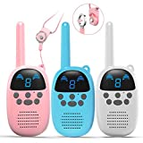 GOCOM Kids Toys Walkie Talkies Birthday Child Gift Walky Talky Handheld Two-Way Radio Boys & Girls Toys Age 4-12, for Indoor Outdoor Hiking Adventure Games 3 Pack