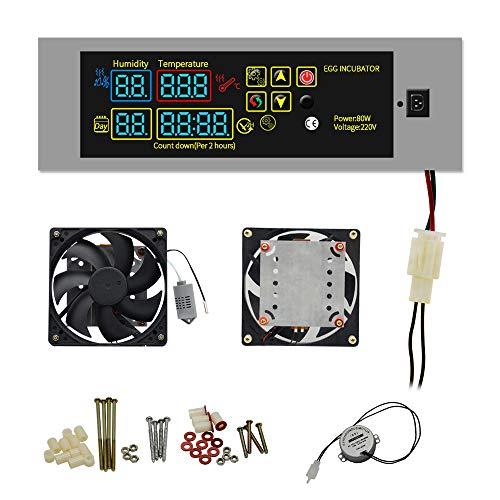 Huatuo DIY Mini incubadora Controlador Conjunto Sistema de calefacción Huevo incubadora repuestos
