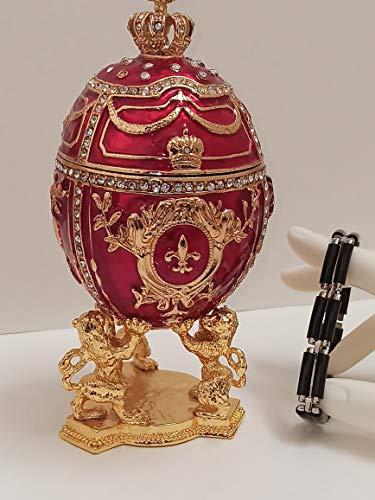 Adorno artesano para el día de San Valentín, regalo de San Valentín, regalo de graduación para el hijo, despedida de soltero, oro de 24 quilates, Swarovski caja de plata y pulsera