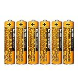Micro AAA Akku 1.2v 630mah NI-MH Akku batterien für Panasonic,Wiederaufladbare Batterien geeignet für schnurlose Telefone, 6er Pack