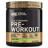 Optimum Nutrition ON Gold Standard Pre Workout, Energy Drink Pulver mit Kreatin Monohydrat, Beta Alanin, Koffein und Vitamin B Komplex, Green Apple, 30 Portionen, 330g, Verpackung kann Variieren