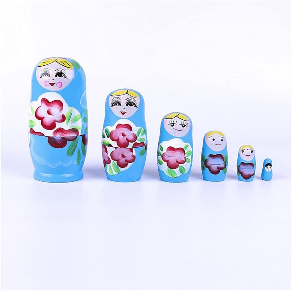 ZANZAN Matryoshka Daily bargain sale Set Attention brand Unpainted Russian Wooden DIY Doll Nesting