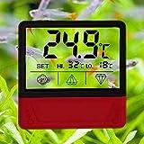 WDRL Display LCD Digitale Termometro per Acquario Monitor, Il Sensore di Temperatura Ad Incastro Assicura Una Temperatura Ottimale nel Terrario, per Il Tuo Animale Domestico Anfibi E Rettili