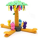 Little Treasures Hungry Bears Honey Grabber Play Set with Colorful Bears, Beehives and Honey with Rotating Tree Game Piece