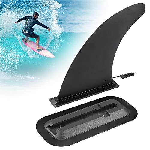 Zocipro 9 Pulgadas de Removible Universal Quilla Paddle Surf con Base Quilla, Quillas Surf Desmontable Stand Up Paddle Fin de Repuesto Nylon Seguro Reforzado Aleta Tabla Paddle Surf para Longboard