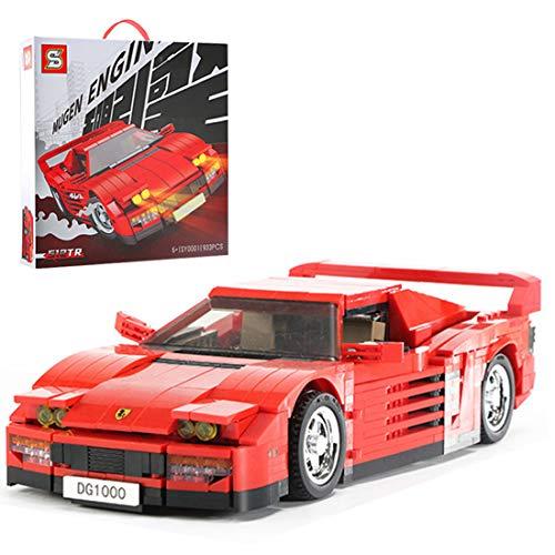 Tewerfitisme 933Pcs Static Super Sports Car Bricks Modelo DIY Piezas Pequeñas Vehículo Juguete Técnico Coche Juguete Compatible con Lego