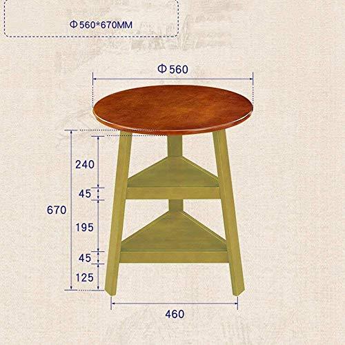 Haushaltsregale Regale Runder Massivholztisch Einfacher Runder Couchtisch neben Eck-Couchtisch 56×67Cmgestelle, Milchig, B-T, Nussbaum