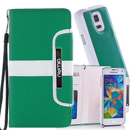 numia Schutzhülle für Samsung Galaxy S3 / S3 Neo Hülle [herausnehmbares Hülle] PU Leder Tasche Kartenfach [Grün]