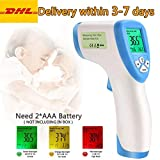 Greatico Digital Infrared Forehead Non-Contact Digital Thermometer Laser IR Portable Body Basal with...