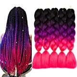 Ombre Braiding Hair Extensions Synthetic Afro...