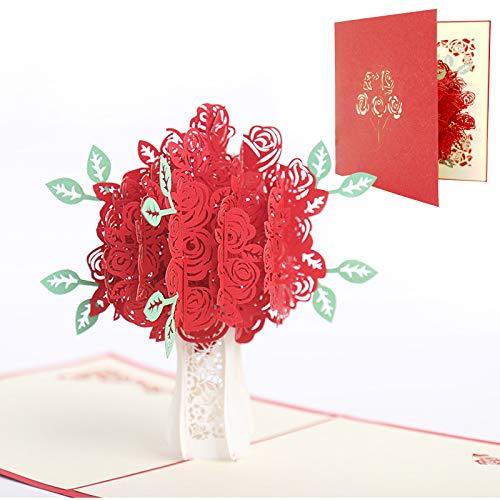 Día de la Madre tarjeta,3D Tarjeta de Felicitación, Tarjeta de felicitación pop-up 3D con hermoso papel cortado, regalo para el cumpleaños de mamá, sobre incluido