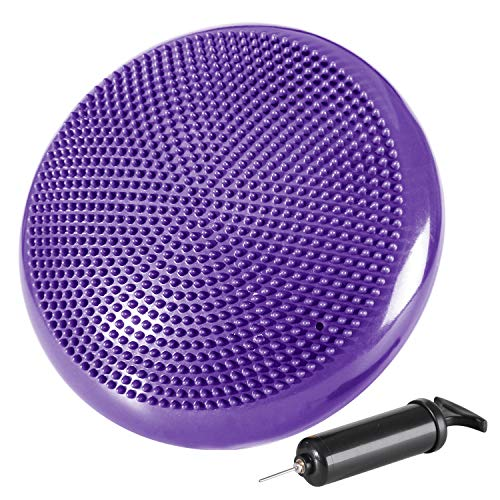 Best Buy! REEHUT Inflated Stability Wobble Cushion, Balance Disc Trainer 13 Diameter for Workout, T...