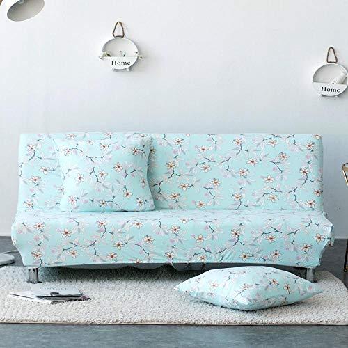 UTDFEOPSG Funda de Sofá Protector Elástica2 plazas, Funda de sofá sin Brazos con Estampado Floral, Fundas elásticas Seater Couch Protector Sofá Cama Plegable Sin reposabrazos 160-185cm