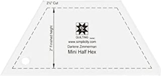 Dimensions Small Half Hexagonal Quilting Ruler and Quilting Template