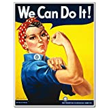 Rosie The Riveter poster unframed Art sign print home decor woman persisted Feminist icon'Quote we can do it' 16x20