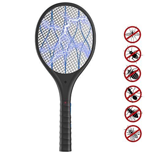 Elektrische Fliegenklatsche ,Fliegenfänger USB wiederaufladbar 3800V Moskito Zapper mit LED Beleuchtung und Abnehmbaren Taschenlampe,Insekten Mörder Effizient und Sicher Ideal für Drinnen und Draußen