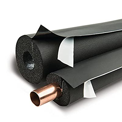 """Armaflex IPBST07810 Lap Self-Seal 7/8"""" x 1"""" Pipe Insulation - 90 Lineal Feet/Carton, Rubber"""