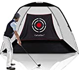 Gagalileo Golf Practice Net Golf Net for Backyard Golf Nets for Indoor Use Driving Range Net Golf Hitting Nets 12X7X6.6FT Home Driving Range Golf Equipment with Target and Carry Bag(Pro White)