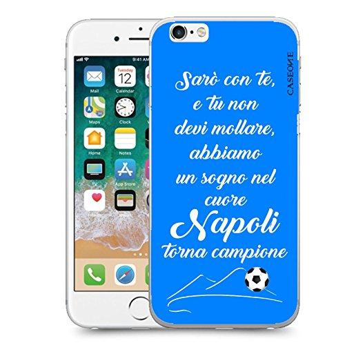 CASEONE Cover in Gomma TPU Saro con Te Napoli Celeste per Apple iPhone 6 6s