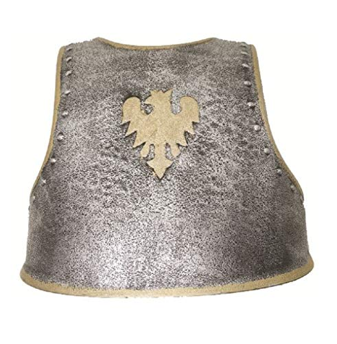 Plastic Medieval Chest Armor Child Silver