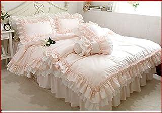 Juego de ropa de cama de matrimonio Shabby Caramella, 200 x 200 cm, funda nórdica/colcha 220 x 240 cm, fundas de almohada x2 unidades 74 x 47