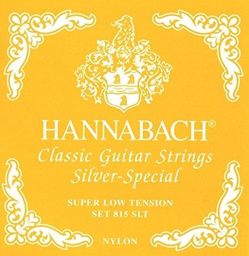 Hannabach Corde per Chitarra Classica Serie 815 Super Low Tension Silver Special, Set di 3 Corde Cantini