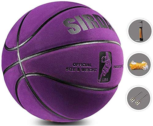 New ZHOU.D.1 Basketball- Standard Basketball Indoor and Outdoor No. 7 Basketball Size 9.7 Inches (24...