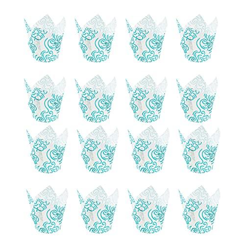 Tulip Cupcake Liners Muffins Wrappers - Taza para hornear (150 unidades, grado alimenticio, a prueba de grasa)