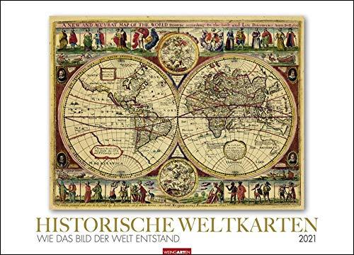 Historische Weltkarten Kalender 2021: Wie das Bild der Welt entstand