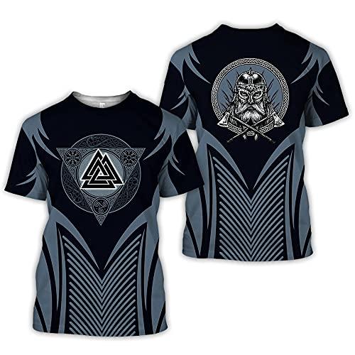 Streetwear Hombres Casual Impresión 3D Creativo Abstracto Patrón Único Cuello Redondo Hombres Camiseta Verano Cómodo Casual Deporte Hombres Manga Corta A14701 L
