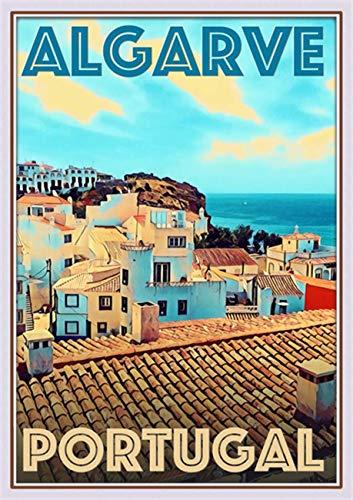 StickIt2Me Algarve Portugal - Póster de Viaje Retro, A3