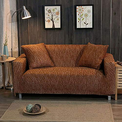 GOPG Funda elástica para sofá, suave, antideslizante, para sala de estar, niño, gato, perro, 2 asientos, 145-185cm-D